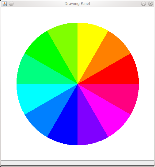 A Color Wheel With 12 Arcs