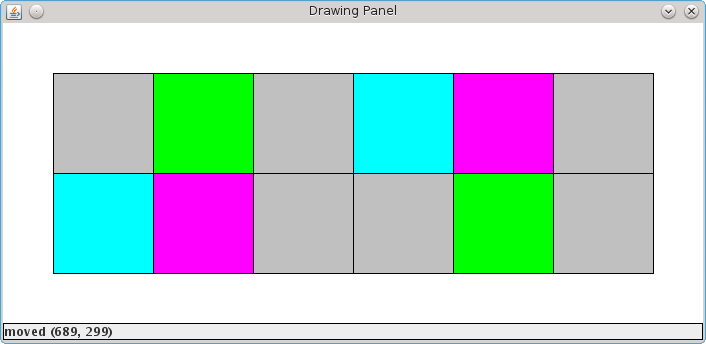 Concentration board after matching three colors