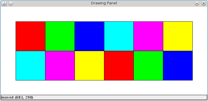 Concentration board after matching all colors